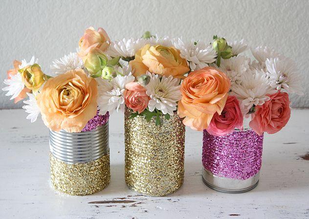 Diy Glitter Vase 1mhowto
