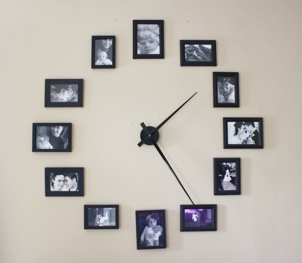 DIY photo frame clock - 1mhowto.com
