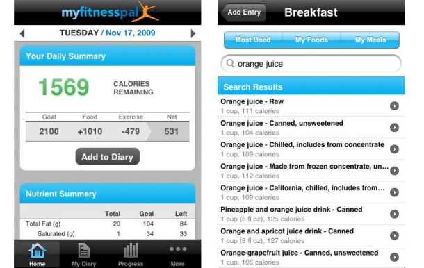 MyFitness Pal(5 motivations for savings)