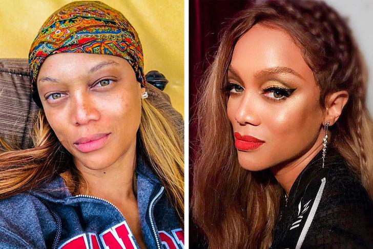 , 18 Celeb Photos That Prove Makeup Is Magic