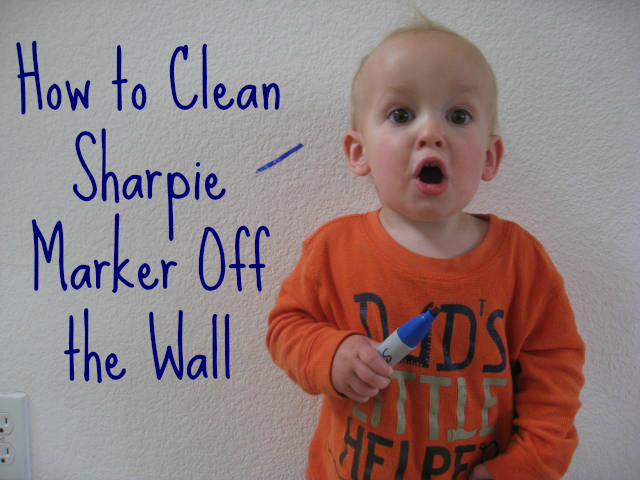 How to remove permanent marker from walls