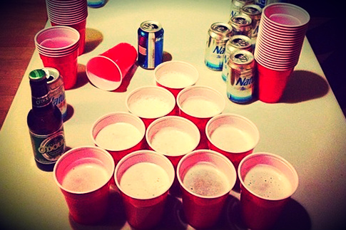 How to play a beer pong