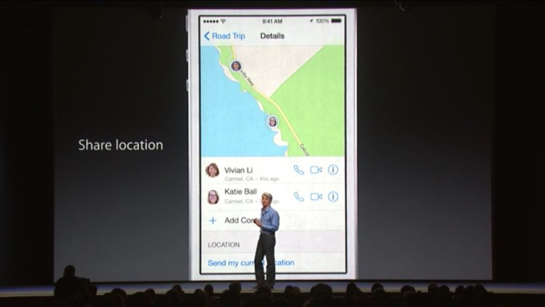 How to share your location in iOS 8