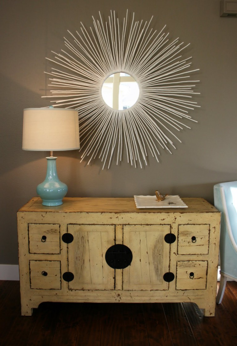 How to make a sunburst mirror