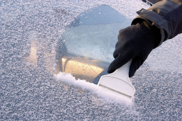 Defrosting the windshields