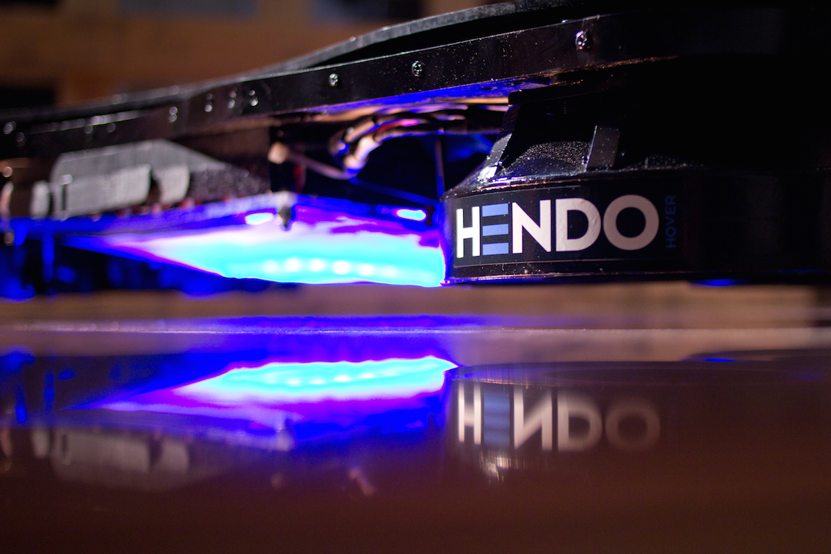 Hendo hoverboard – realization of a film project
