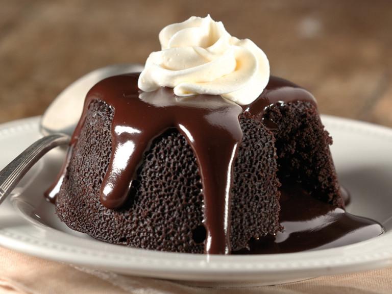 When homemade lava cake meets homemade ice cream