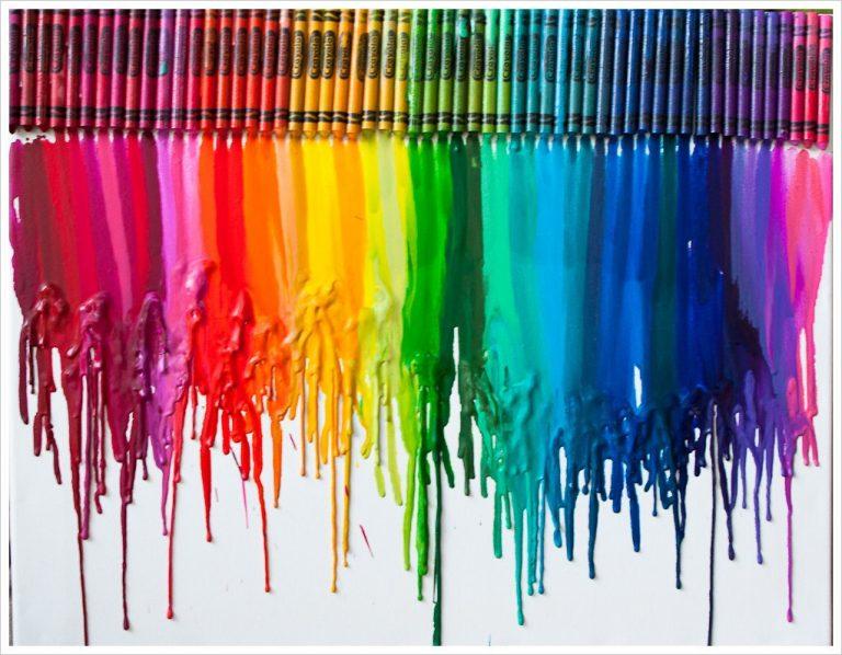 Crayon wall art