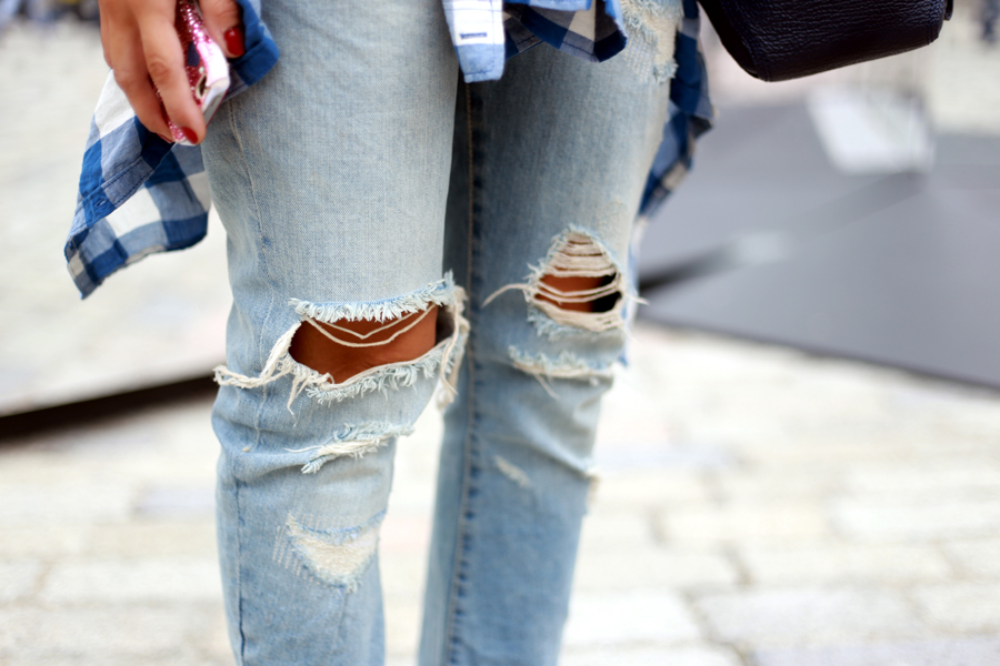 , DIY ripped jeans