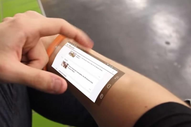 The Cicret bracelet – future on your forearm