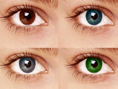 How do people get the colors of their eyes?