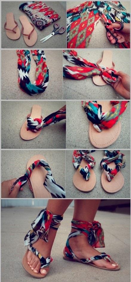 DIY gladiator sandals II