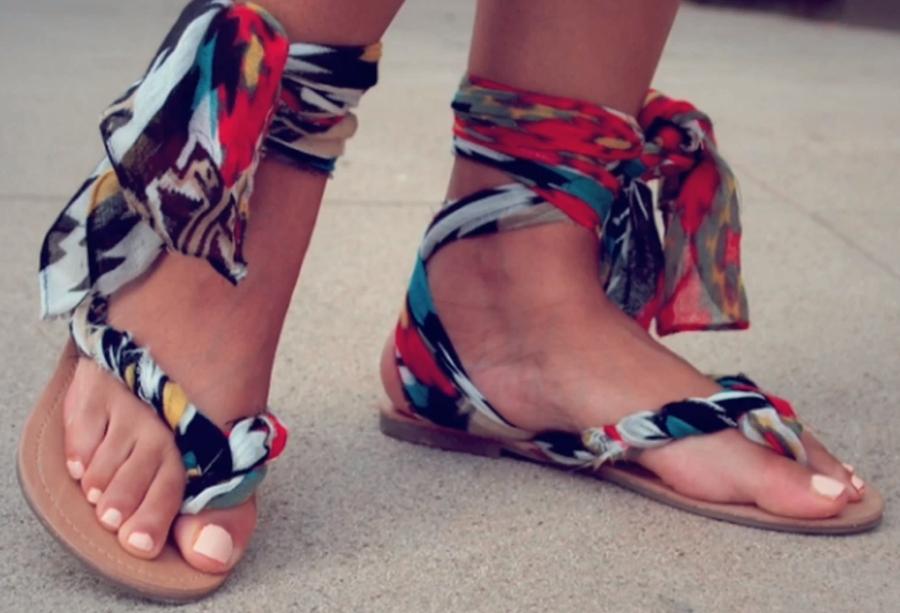 , DIY gladiator sandals