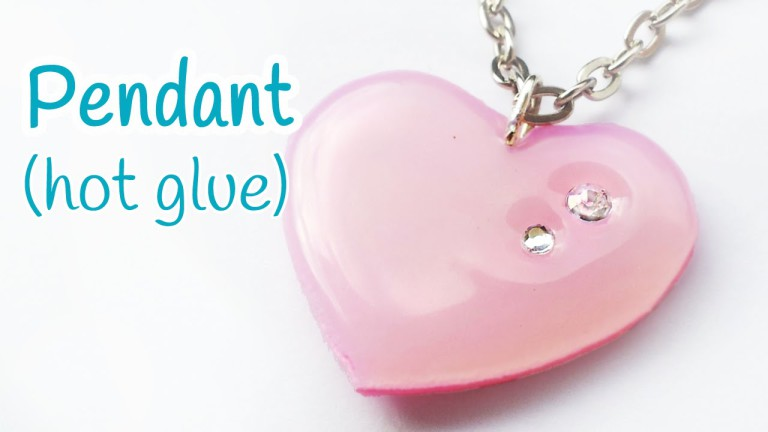DIY hot glue heart pendant