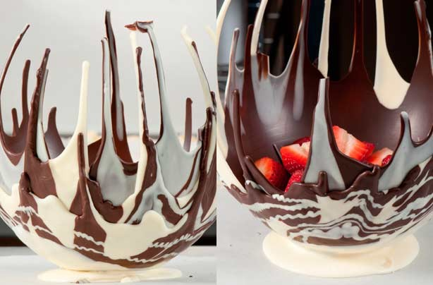 How to make a balloon chocolate bowl