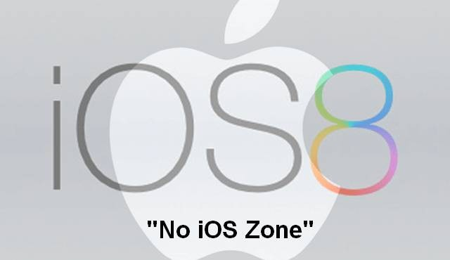 No iOS Zone bug- the iOS8 flaw
