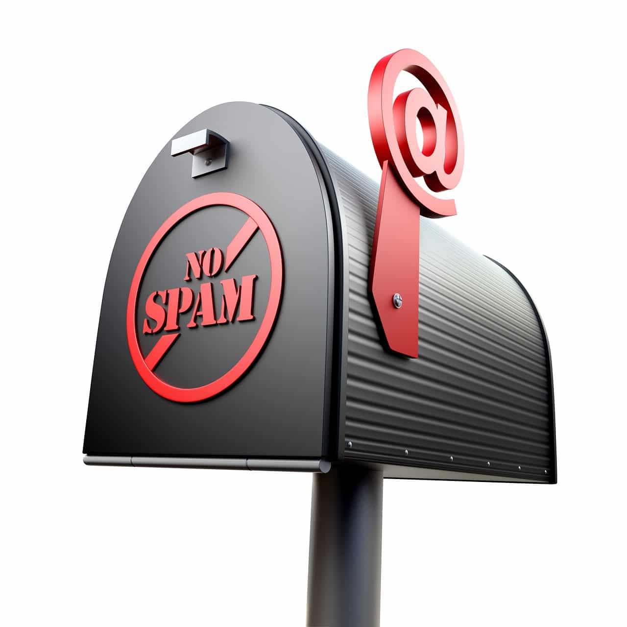 "mailbox with ""no spam"" sign"